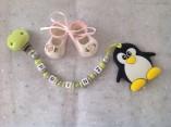 Beisskette mit Namensclip und Silikon-Pinguin € 17,00