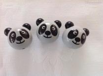 """Motiv """"3D-Panda grau"""""""