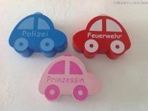 """Motiv Auto """"Polizei"""", """"Feuerwehr"""" und """"Prinzessin"""""""