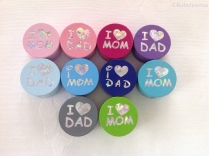 "Motiv ""I love Mom und Dad"""