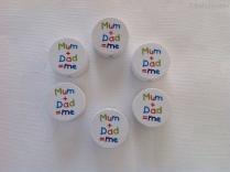 """Motiv """"Mum + Dad = me"""""""